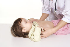 Nice doctor and little girl Stock Image