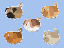 Nice Dogs stickers vector set. Nice Dogs stickers vector set royalty free illustration