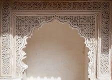 Door decorated in Arabic style (Marrakech) Stock Photos