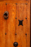 Nice door with wrought iron decoration Stock Image