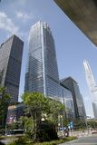 Nice downtown of modern city Shenzhen China stock images