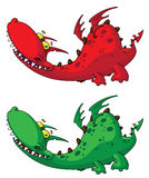 Nice dragon. Illustration of a nice dragon Royalty Free Stock Images