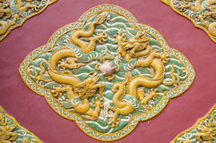 The nice dragon wall Royalty Free Stock Photo