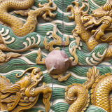 The nice dragon wall Stock Photography