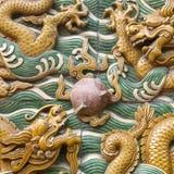 The nice dragon wall Stock Photography