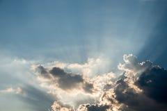 Nice drama cloud with sun ray shining Stock Image