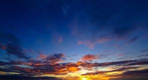 Nice dramatic sunset sky Royalty Free Stock Images