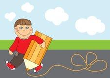 Nice drawing boy Stock Image