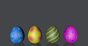 Nice easter eggs four black background with place for the note shining mirror glass. Easter eggs four black background with place for the note vector illustration