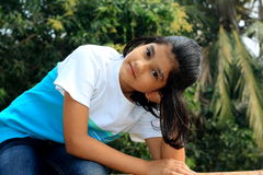 Nice and easy Indian girl Royalty Free Stock Image