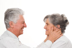 Nice elderly couple Royalty Free Stock Image