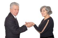 Nice elderly couple Stock Images