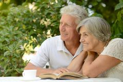 Nice elderly couple Stock Photo