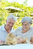 Nice elderly couple Royalty Free Stock Images