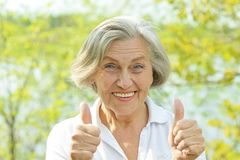 Nice elderly woman Royalty Free Stock Image