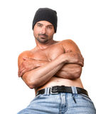 Tough Guy. Nice emotional Portrait of a Tough Guy royalty free stock photography