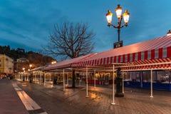 Nice en France, le Cours Saleya photos libres de droits
