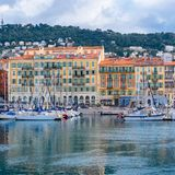 Nice en France, le port images stock
