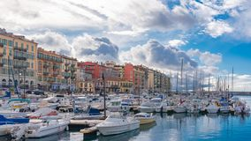 Nice en France, le port image libre de droits