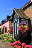 Nice English country houses. Fascinating flowers decorated houses in a small town,Kent UK Royalty Free Stock Images