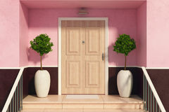 Nice entrance in daylight Royalty Free Stock Image
