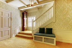 Nice entry way to home with carpet staircase and interior Stock Image
