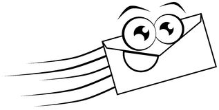 Nice envelope cartoon illustration. Image representing an isolated stylized envelope. An image that can be used in all project about this household appliance stock illustration