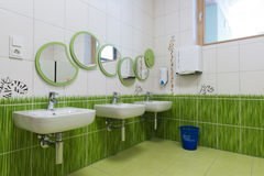 Nice environment in a children bathroom Stock Photos
