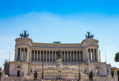 Nice Equestrian monument to Victor Emmanuel II near Vittoriano in Rome Italy Stock Photography