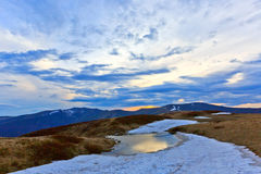 Nice evening scene in Carpathians Stock Image