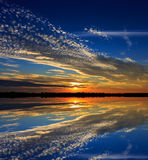 Nice evening sky over water Stock Image