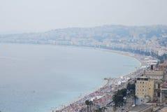Nice, för hav, för himmel, kust- och oceaniska landforms, stad arkivbilder