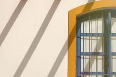 Nice facade Mediterranean house with drop shadows Royalty Free Stock Photography