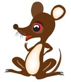 Nice fairy-tale baby mouse Royalty Free Stock Photos