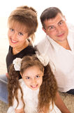 Nice family on carpet Stock Photo
