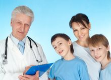 Nice family with children Stock Photography