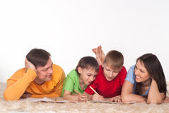 Nice family drawing Royalty Free Stock Images