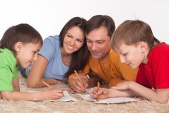 Nice family drawing Royalty Free Stock Image