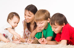 Nice family drawing Royalty Free Stock Photo