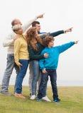 Nice family enjoying their holidays Stock Photography