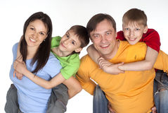 Nice family of a four Stock Image