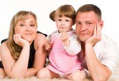 Nice family lying Royalty Free Stock Photo