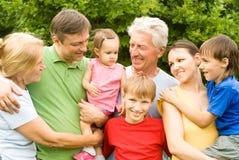 Nice family portrait Stock Photo