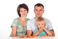 Nice family of a three Stock Photography