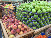 Nice farmers market. Fresh fruits selling at farmer market Sprouts Stock Photo