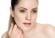 Nice female face with health skin Stock Photography