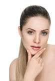 Nice female face with health skin Stock Images