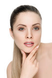 Nice female face with health skin Stock Image