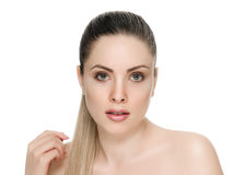 Nice female face with health skin Stock Photo