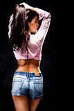 Nice female figure from back Stock Photography